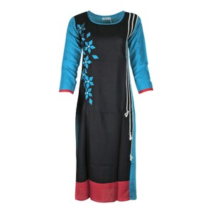 Eten Women's Long Kurti Long Sleeve PCK117 Teal