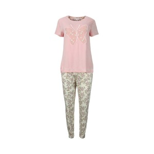 Debackers Women's Pyjama Set Short Sleeve 2020-9 Pink