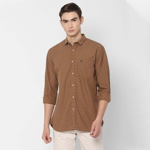 Allen Solly Men's Casual Shirt Long Sleeve ASSFWSPF156158 Brown