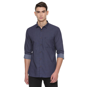 Allen Solly Men's Casual Shirt Long Sleeve ASSFWSPF349592 Navy