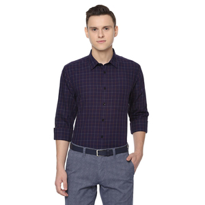 Allen Solly Men's Casual Shirt Long Sleeve ASSFWSPF881075 Dark Purple