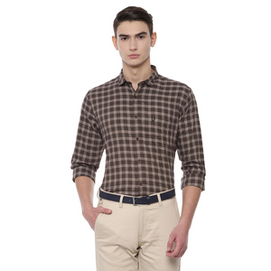 Allen Solly Men's Casual Shirt Long Sleeve ASSFWSPF939445 Brown