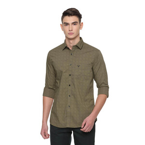 Allen Solly Men's Casual Shirt Long Sleeve ASSFWSPFC69738 Olive