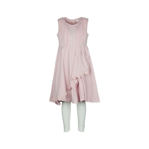 Debackers Girls Dress Sleeveless With Leggings Pink 2-3Y