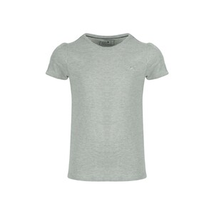 Eten Girls Basic T-Shirt Round-Neck Short Sleeve Grey Melange GTB-10 10-16Y