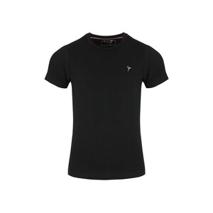 Eten Girls Basic T-Shirt Round-Neck Short Sleeve Black GTB-12 10-16Y