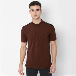 Allen Solly Men's Polo T-Shirt Short Sleeve ASKPWRGF615319 Brown