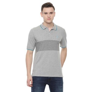 Allen Solly Men's Polo T-Shirt Short Sleeve ASKPWRGPN86426 Medium Grey