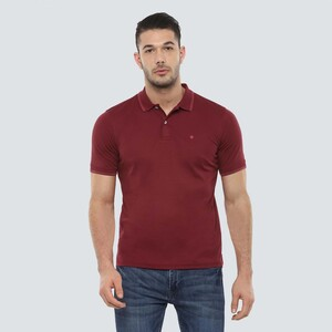 Louis Philippe Men's Polo T-Shirt Short Sleeve LPKPMRGBA44936 Maroon