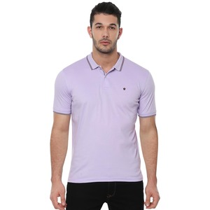 Louis Philippe Men's Polo T-Shirt Short Sleeve LPKPMRGBC33110 Purple