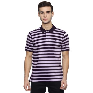 Louis Philippe Men's Polo T-Shirt Short Sleeve LPKPMRGBG84429 Wine