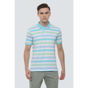 Louis Philippe Men's Polo T-Shirt Short Sleeve LPKPMRGBM90664 Multi