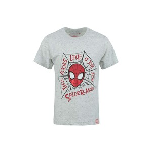 Spiderman Boys Round Neck T-Shirt Short Sleeve LW20S-501 Light Grey 2-8Y