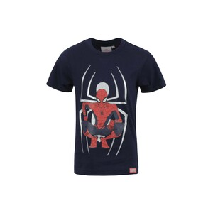 Spiderman Boys Round Neck T-Shirt Short Sleeve LW20S-505 Navy 2-8Y