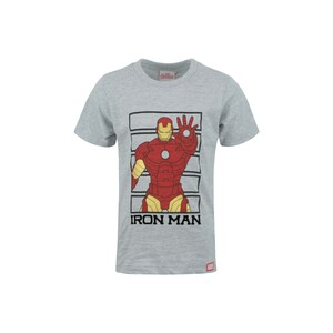 Marvel Boys Round Neck T-Shirt Short Sleeve LW20S-508 Grey 2-8Y