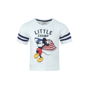Disney Mickey Mouse Boys Round Neck T-Shirt SS20IB-M1 White 6-24Month