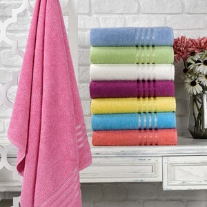 Cortigiani Cotton Bath Towel 1pcSize: W70 x L140cm Assorted Colors
