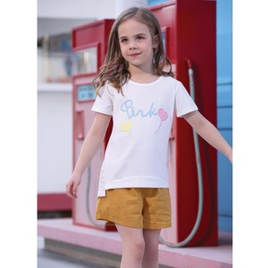 Debackers Girls T-Shirt Round Neck Short Sleeve D19128 Ivory 2-8Y