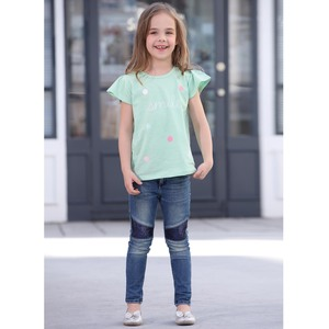 Debackers Girls T-Shirt Round Neck Short Sleeve D19130 Green 2-8Y