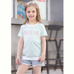 Debackers Girls T-Shirt Round Neck Short Sleeve D19139 Green 2-8Y