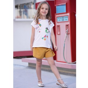 Debackers Girls T-Shirt Round Neck Short Sleeve D19140 White 2-8Y
