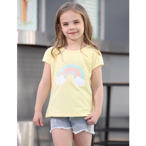Debackers Girls T-Shirt Round Neck Short Sleeve D19137 Yellow 2-8Y