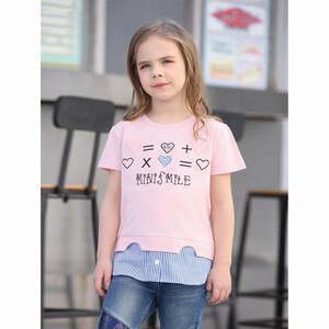 Debackers Girls T-Shirt Round Neck Short Sleeve D19136 Pink 2-8Y