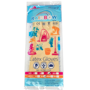 Rainbow Household Latex Gloves Large 1 Pair