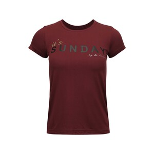 Debackers Womens' T-Shirt Short Sleeve Sun Maroon