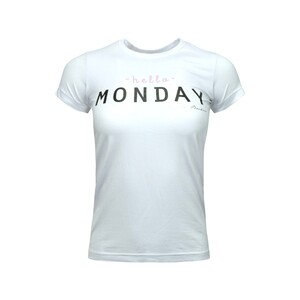 Debackers Womens' T-Shirt Short Sleeve Mon White