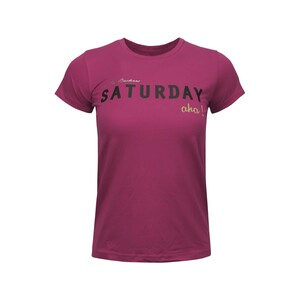 Debackers Womens' T-Shirt Short Sleeve Sat Pink