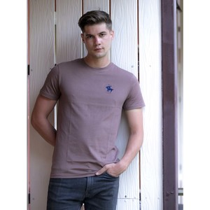 Marco Donateli Men's Round Neck T Shirt Short Sleeve MR6 Deep Taupe
