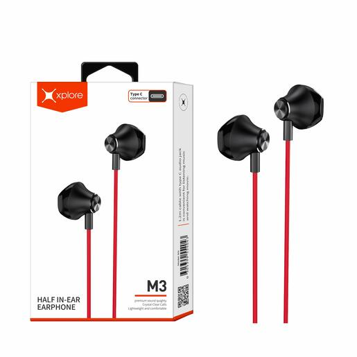 Xplore Type-C Half In-Ear Earphone with Microphone M3