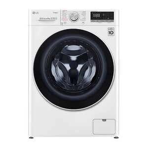 LG Front Load Washing Machine F4V5VYP0W 9KG, AI DD™, Steam+™, Bigger Capacity
