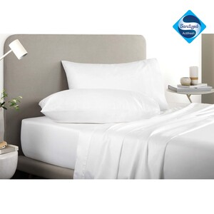 Rest Bed Sheet Sanitized White 1pc Size: 160x230cm