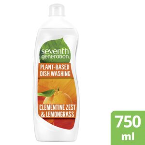 Seventh Generation Plant Based Dishwashing Clementine Zest & Lemongrass 750ml