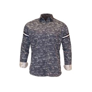 Cortigiani Mens Casual Shirt Long Sleeve PDT-02