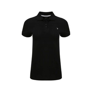Eten Women's Polo T-Shirt Short Sleeve SCCPOLO01 Black