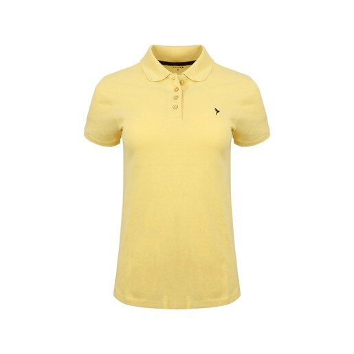 Eten Women's Polo T-Shirt Short Sleeve SCCPOLO10 Yellow Medium
