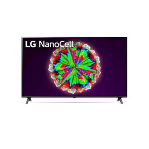 LG NanoCell TV 49 Inch NANO80 Series, Cinema Screen Design 4K Active HDR WebOS Smart ThinQ AI Local Dimming
