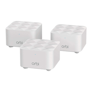 Netgear Orbi Whole Home Mesh WiFi System (RBK13)  Router replacement covers up to 4,500 sq. ft. with 1 Router & 2 Satellites