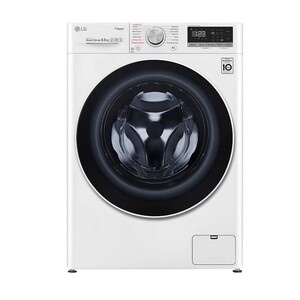 LG Front Load Washing Machine F2V5GYP0W 8.5KG, AI DD™, Steam+™, Bigger Capacity