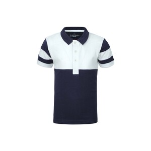 Debackers Boys Polo T-Shirt Short Sleeve B005 White Navy 2-8Y