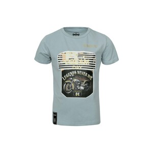 Debackers Boys T-Shirt Round-Neck Short Sleeve BTP03 Grey 2-8Y