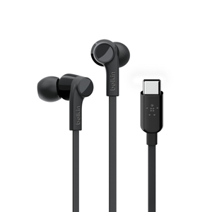 Belkin SOUNDFORM Headphones with USB-C Connector (USB-C Headphones-G3H0002BTBLK)-Black