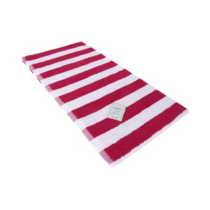 True Bath Towel Stripe BerrySize: W70 x L140cm