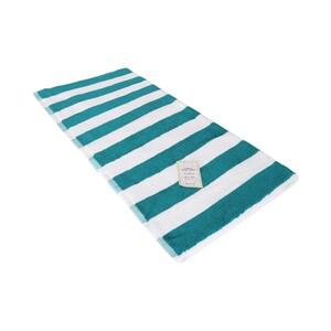 True Bath Towel Stripe Turquoise BlueSize: W70 x L140cm
