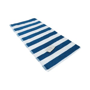 True Bath Towel Stripe BlueSize: W70 x L140cm