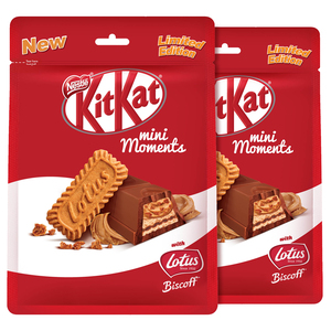 Kit Kat Mini Moments With Lotus Biscoff 2 x 122.5g