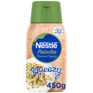 Nestle Pistachio Flavoured Sweetened Condensed Milk Topping Squeezy 450g